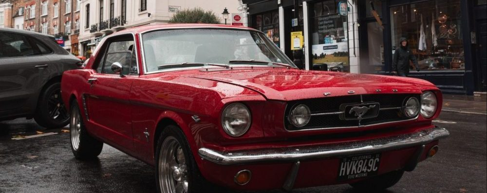 Red 60s Mustang Photo