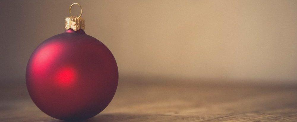 Red Christmas ornament - Photo by Markus Spiske on Unsplash